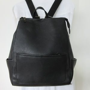 Hibou Backpack Black Bebble Texture Water Pouches